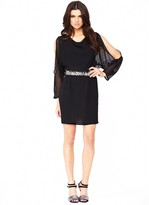 South Embellished Split Sleeve Dress