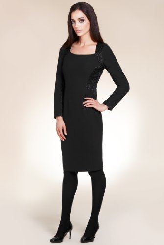 Per Una Speziale Long Sleeve Lace Panel Dress