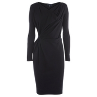 Bastyan Izzie Long Sleeved Dress, Black