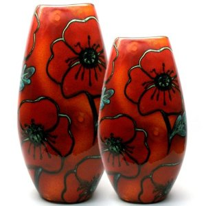 Poole Pottery Poppy Fields Vase