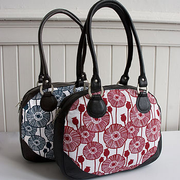 Poppy Canvas And Leather Handbag